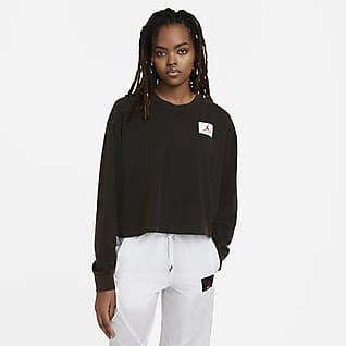 Jordan Essential Camisola de manga comprida com corte a direito para mulher
