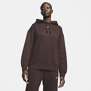 Nike Sportswear Essential Collection Sudadera con gorro de tejido Fleece oversized para mujer