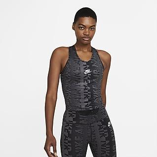 Nike Air Damska koszulka bez rękawów do biegania z nadrukiem