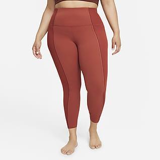 Nike Yoga Luxe Dri-FIT Leggings de tela Infinalon y cintura alta de 7/8 para mujer (talla grande)