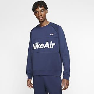 Nike Air Fleecetröja med rund hals för män