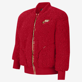 Nike Sportswear 大童(女孩)全长拉链开襟夹克
