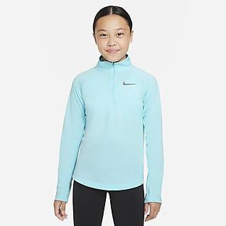 Nike Dri-FIT Běžecká mikina sdlouhým rukávem pro větší děti (dívky)