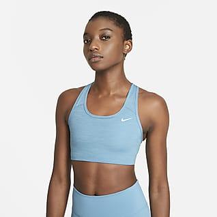 Nike Dri-FIT Swoosh Bra deportivo sin almohadilla de sujeción media para mujer