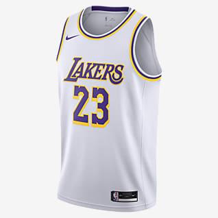 2020 赛季洛杉矶湖人队 (LeBron James) Association Edition Nike NBA Swingman Jersey 男子球衣