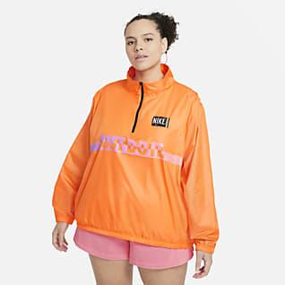 Nike Sportswear Chamarra sin cierre de tejido Woven para mujer (talla grande)