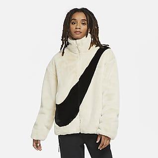 Nike Sportswear Imiteret pelsjakke til kvinder