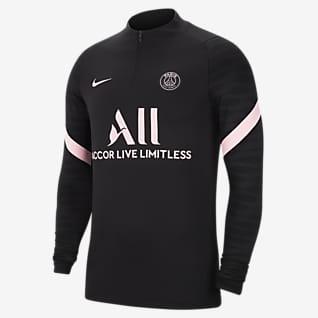Paris Saint-Germain Strike Away Nike Dri-FIT Fußball-Drill-Oberteil für Herren