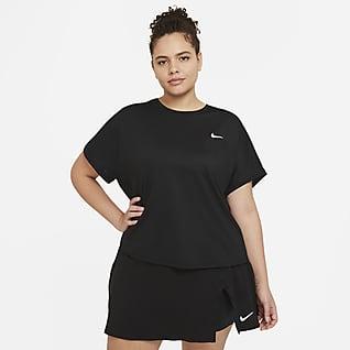 NikeCourt Dri-FIT Victory Camiseta de tenis de manga corta para mujer (talla grande)