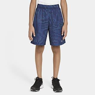 Nike Dri-FIT Shorts de entrenamiento estampados para niños talla grande