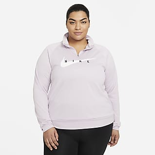 Nike Swoosh Run Dámský běžecký top (větší velikost)