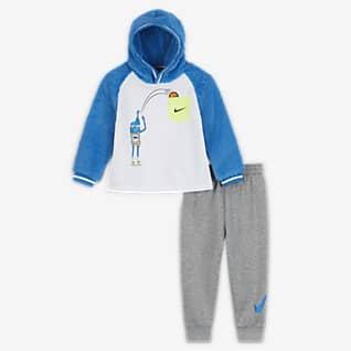 Nike Kapucnis pulóver és szabadidőnadrág szett babáknak (12–24 hónapos)