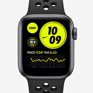 Apple Watch Nike Series 6 (GPS) mit Nike Sportarmband 40-mm-Aluminiumgehäuse in Space Grau