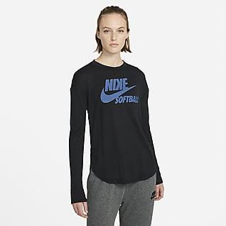 Nike Flux Prenda para la parte superior de softball de manga larga para mujer