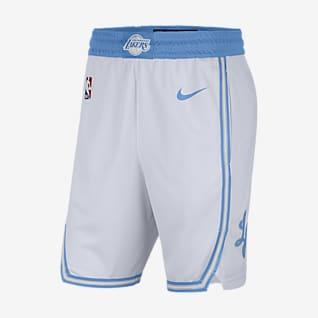 Los Angeles Lakers City Edition 2020 Men's Nike NBA Swingman Shorts