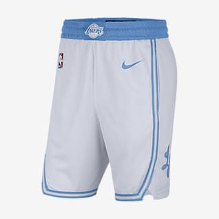 Los Angeles Lakers City Edition 2020 Shorts Nike NBA Swingman para hombre