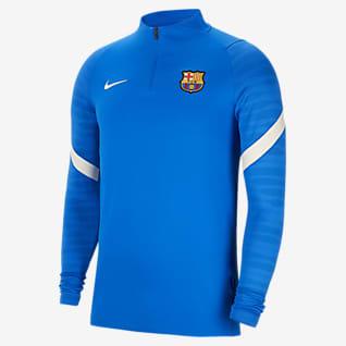 FC Barcelona Strike Drill-Fußballoberteil für Herren