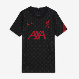 Liverpool F.C. Older Kids' Pre-Match Short-Sleeve Football Top