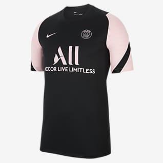 Paris Saint-Germain Strike Uit Nike voetbaltop met Dri-FIT en korte mouwen voor heren