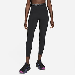 Nike Pro Dri-FIT Glanzende 7/8-legging met hoge taille voor dames