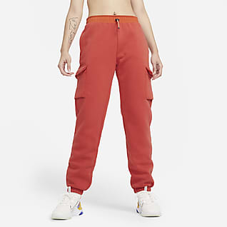 Nike Sportswear Cargo-bukser i fleece til kvinder