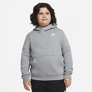 Nike Sportswear Club Fleece Pullover-hættetrøje (udvidet størrelse) til store børn (drenge)