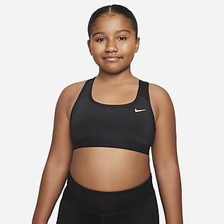 Nike Swoosh Спортивное бра для девочек школьного возраста (расширенный размерный ряд)