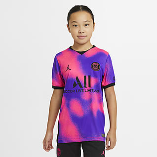 4e maillot Paris Saint-Germain 2020/21 Stadium Maillot de football pour Enfant plus âgé