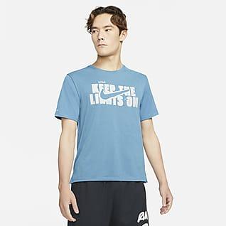Nike Dri-FIT Miler Wild Run 男款短袖印花跑步上衣