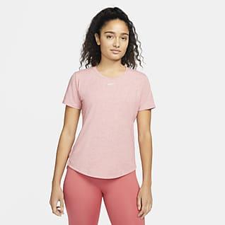 Nike Dri-FIT One Luxe Kortærmet overdel i standardpasform til kvinder