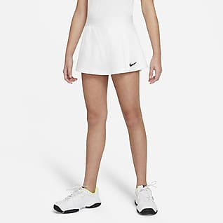 NikeCourt Victory Tennisnederdel til større børn (piger)
