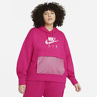Nike Air Γυναικεία μπλούζα με κουκούλα (μεγάλα μεγέθη)