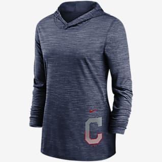 Nike Dri-FIT Split Legend (MLB Cleveland) Women's Long-Sleeve Hooded Training Top