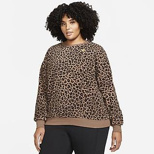 Nike Sportswear Fleeceshirt met ronde hals voor dames (Plus Size)