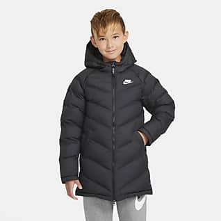 Nike Sportswear Ekstra lang jakke med syntetisk fôr til store barn
