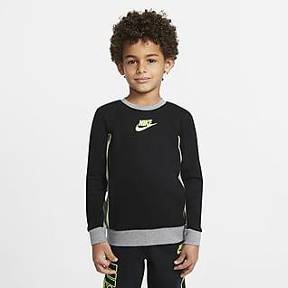 Nike Sudadera con bloques de color para niños talla pequeña