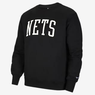 布鲁克林篮网队 Courtside Heritage Nike NBA 男子起绒圆领运动衫