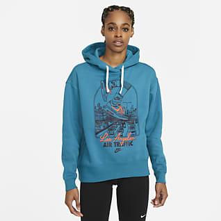 Nike Sportswear Essential Sudadera con capucha de tejido Fleece para mujer
