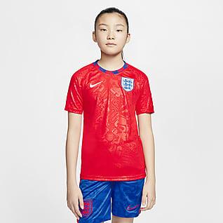England Kurzarm-Fußballoberteil für ältere Kinder