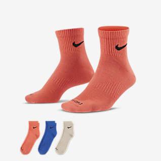 Nike Everyday Plus Lightweight Vristhöga träningsstrumpor (3 par)