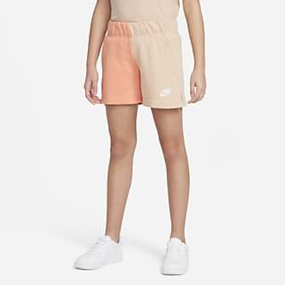Nike Sportswear Shorts de French Terry para niña talla grande
