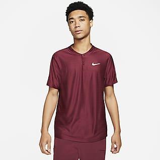 NikeCourt Dri-FIT Advantage Tennispikétröja för män