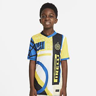 Inter Milan 2021/22 Stadium (wersja czwarta) Koszulka piłkarska dla dużych dzieci Nike Dri-FIT
