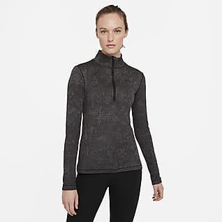 Nike Pro Therma HyperWarm Женская футболка с молнией на половину длины