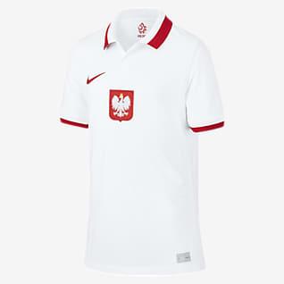 Pologne 2020 Stadium Domicile Maillot de football pour Enfant plus âgé