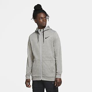Nike Therma Pánská tréninková mikina s kapucí a zipem po celé délce