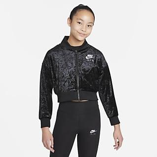 Nike Air เสื้อแจ็คเก็ตเอวลอยเด็กโต (หญิง)