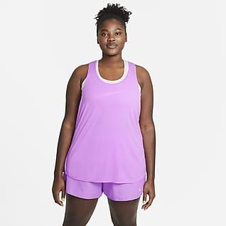 Nike Breathe Cool Løpesinglet til dame (store størrelser)