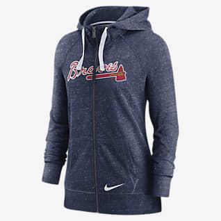 Nike Wordmark Vintage (MLB Atlanta Braves) Women's Full-Zip Hoodie