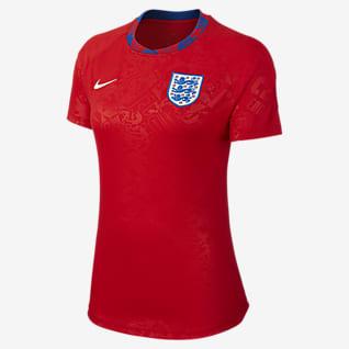 Angleterre Haut de football à manches courtes pour Femme